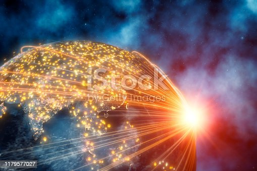 istock Planet Earth With Connection Lines 1179577027