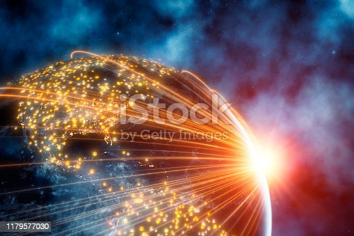 istock Planet Earth With Connection Lines 1179577030