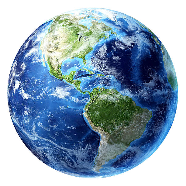 Planet Earth with some clouds. America's view. Planet earth with some clouds. America's view. planet earth stock pictures, royalty-free photos & images