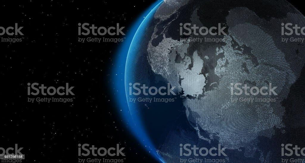 ba84563a9 Photo libre de droit de Planète Terre Avec Des Étoiles Dans La Nuit ...