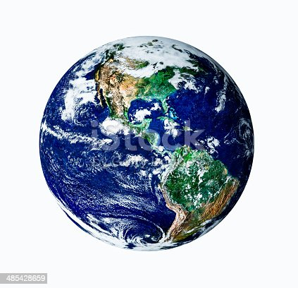 186019678istockphoto Planet earth with white isolate on USA view 485428659