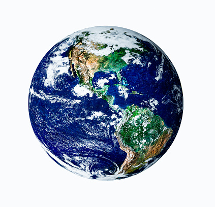 186019678 istock photo Planet earth with white isolate on USA view 485428659