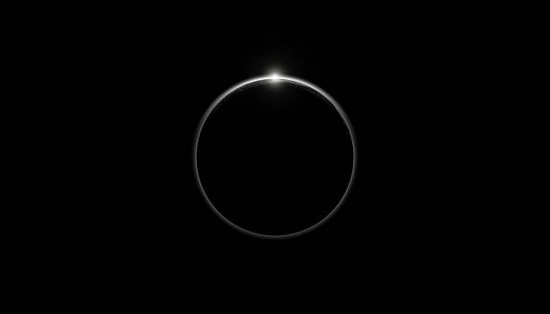 Planet eclipse on a starless sky Planet eclipse on a starless sky.  Digital illustration, no elements of NASA or other third party. black hole stock pictures, royalty-free photos & images