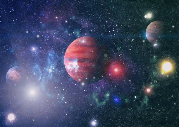 Planet - Elements of this Image Furnished by NASA Universe scene with planets, stars and galaxies in outer space showing the beauty of space exploration. Elements furnished by NASA planet space stock pictures, royalty-free photos & images
