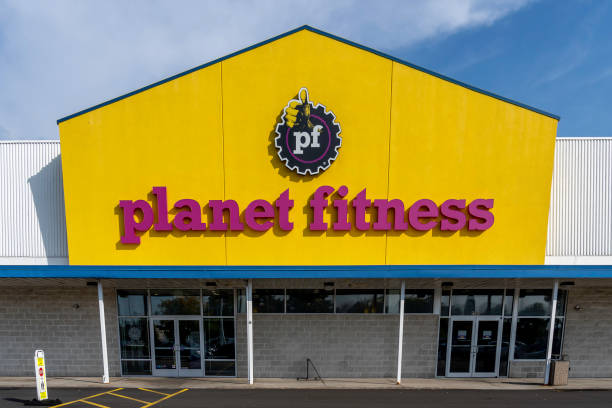 Planet Fitness  front view in Buffalo, New York, USA. stock photo