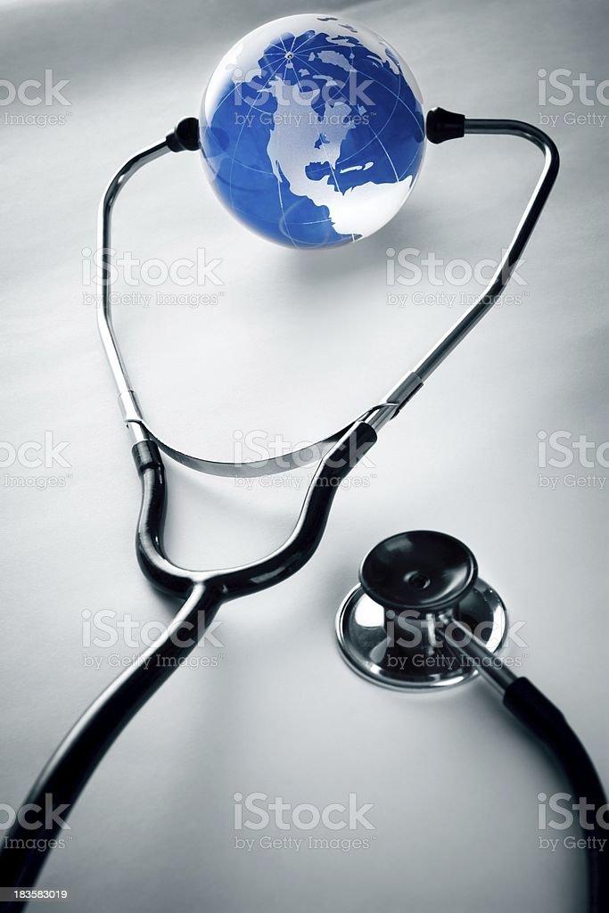 Planet & health royalty-free stock photo