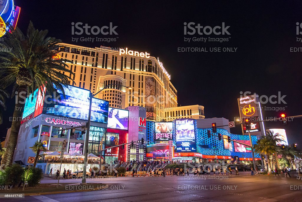 Planet Hollywood Las Vegas Strip at night stock photo