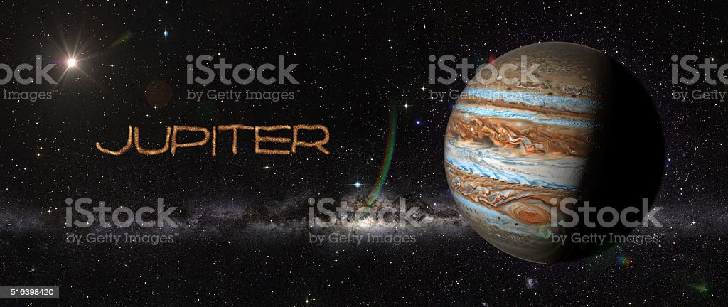 Planet Jupiter in outer space. stock photo