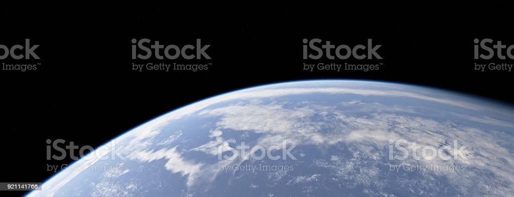 Planet Like Earth Orbital Clouds stock photo