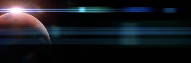 planet mars at sunrise banner - going inside eye imagens e fotografias de stock