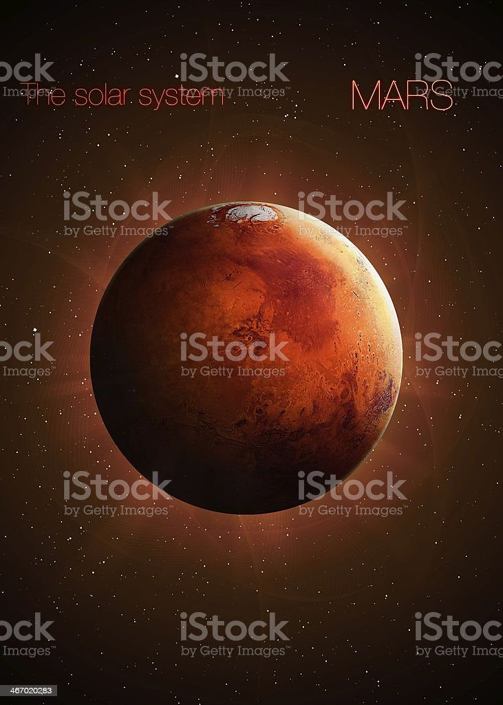 Planet Mars. Elements of this image furnished by NASA stock photo