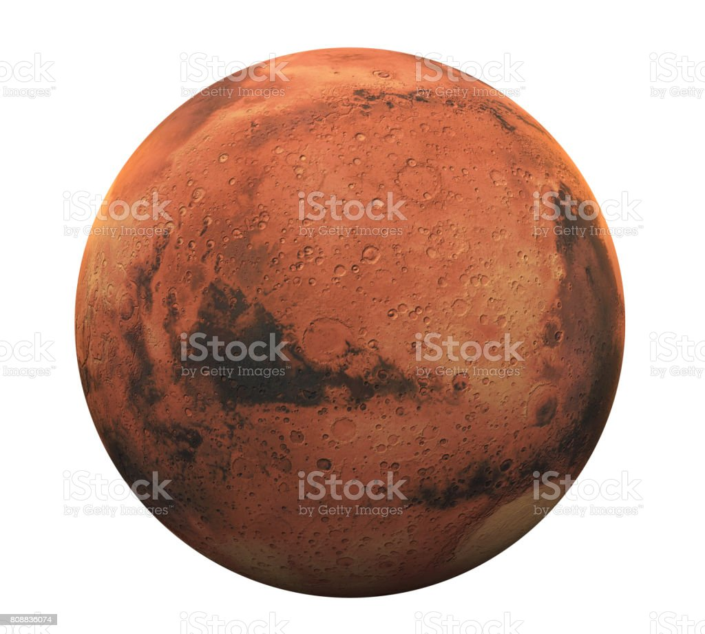 Planet Mars Isolated stock photo
