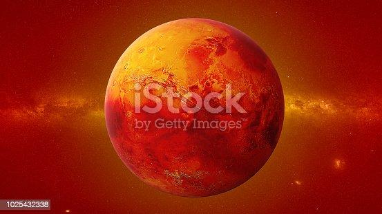 istock planeta Marte la hermosa galaxia y el sol 1028993782 istock ...