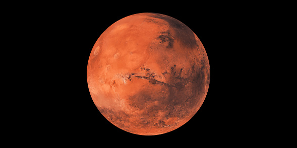 Mars planet llustration the red planet solar system