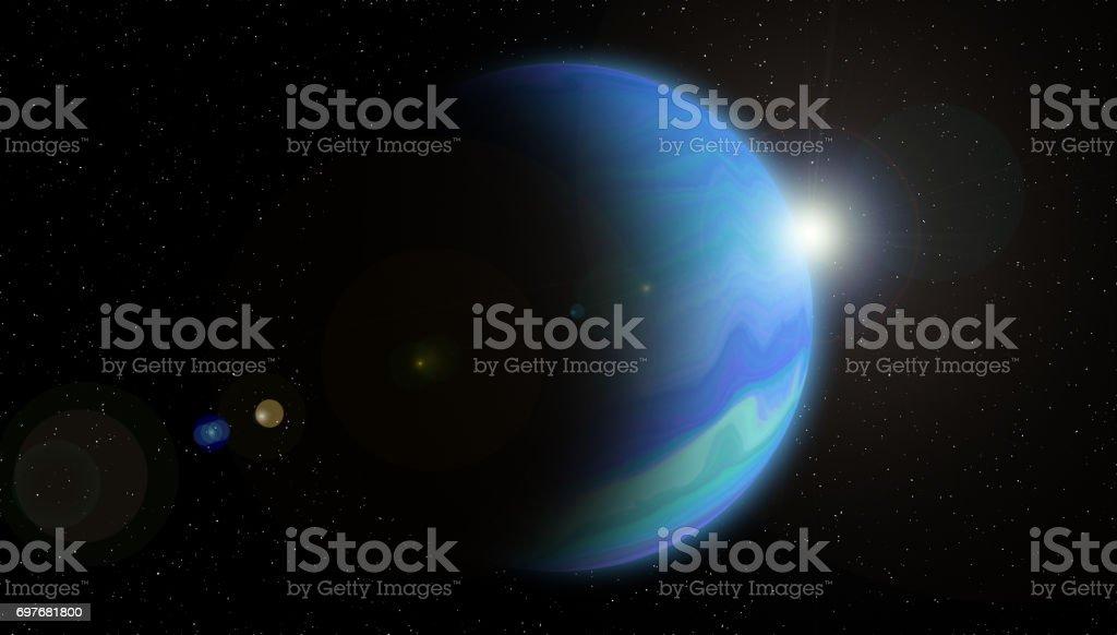 Planet neptune stock photo