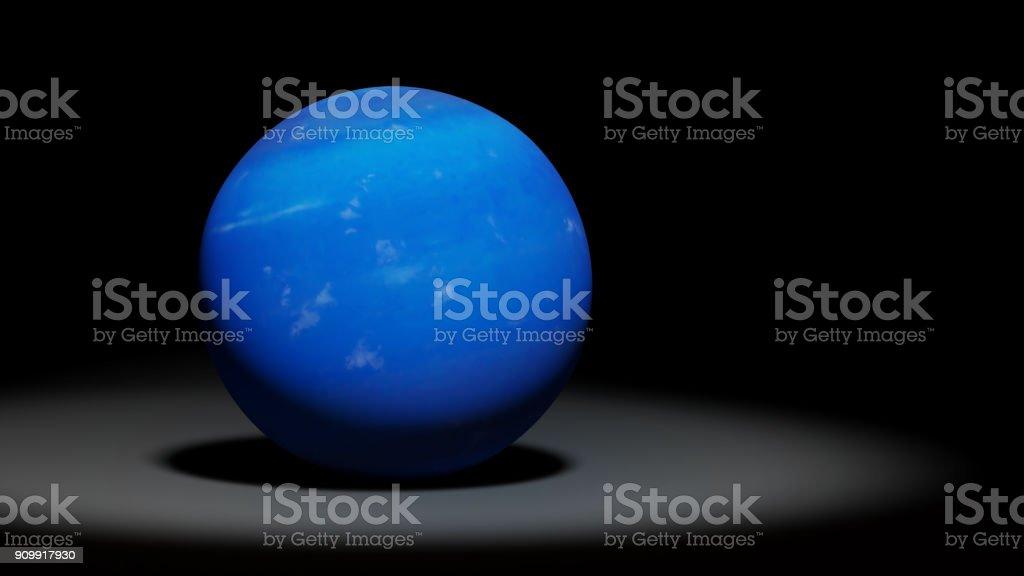 planet Neptune, the blue ice giant, solar system set stock photo
