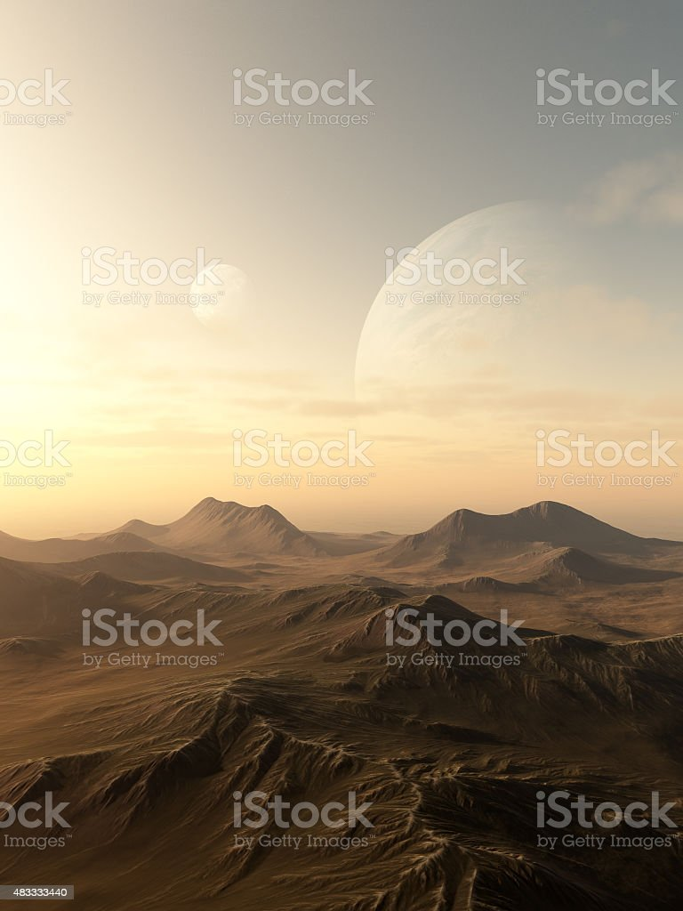 Planet Rise stock photo