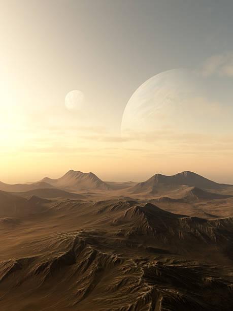 Planet Rise stock photo