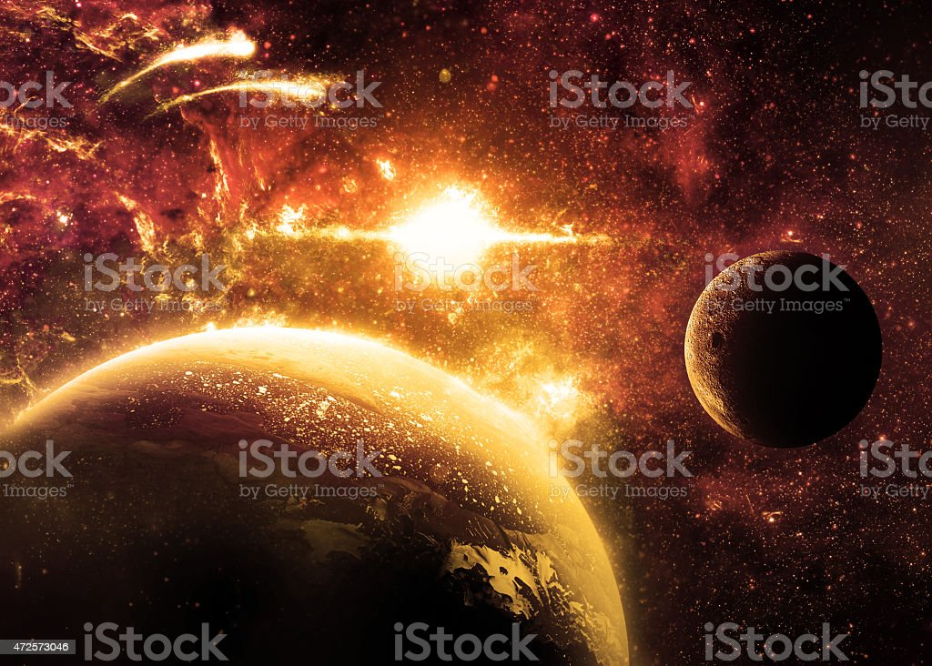 Planet Surface - Elements of this Image Furnished by NASA stock photo