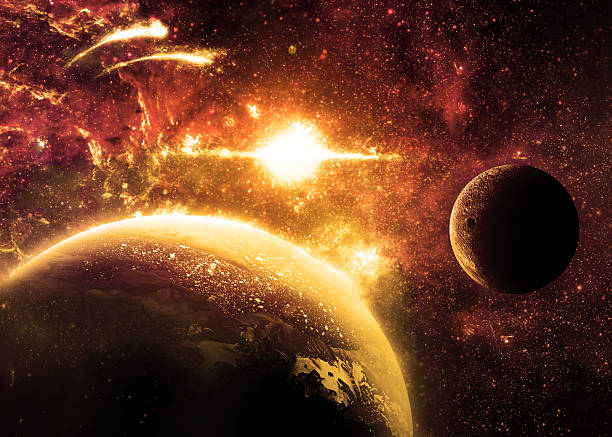 planète surface-éléments de cette image meublées par la nasa. - venus photos et images de collection