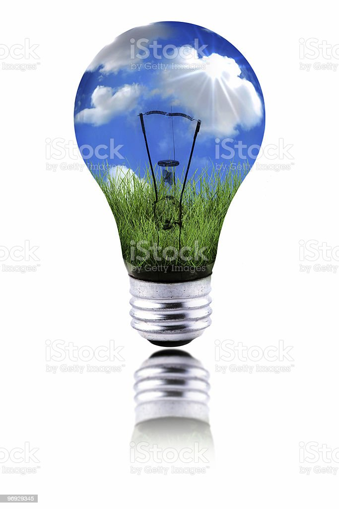 Planet Using Green Energy to Function royalty-free stock photo