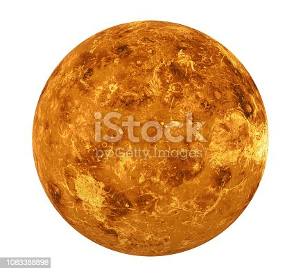 Planet Venus isolated on white background. 3D render