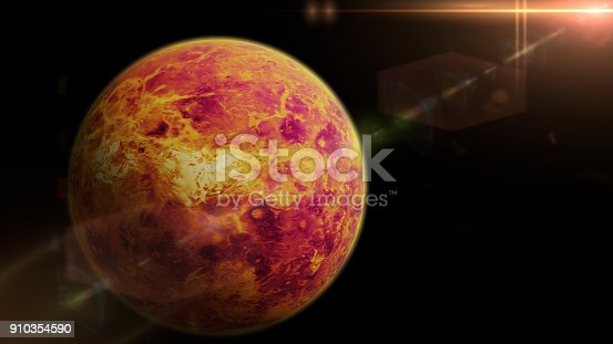 istock planet Venus lit by the bright Sun 910354590