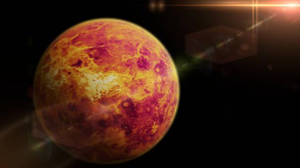 planète vénus éclairée par le soleil - venus photos et images de collection