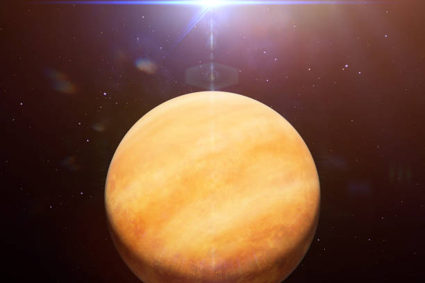 planet venus, the second planet from the sun, part of the solar system - venus стоковые фото и изображения