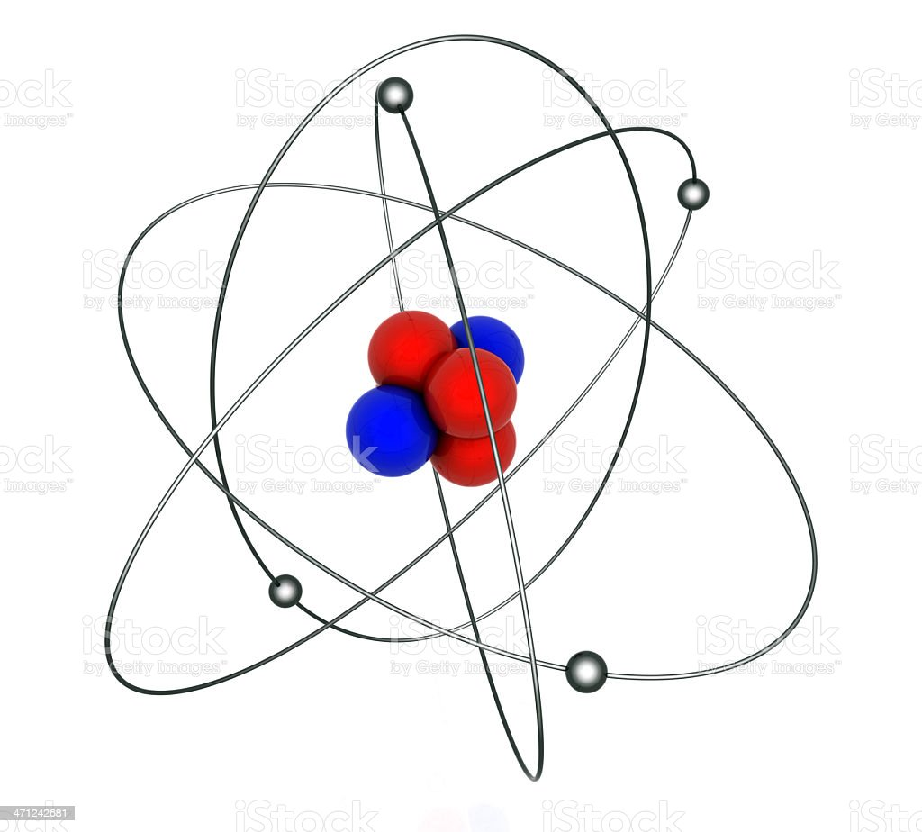 Planetary model of atom stock photo