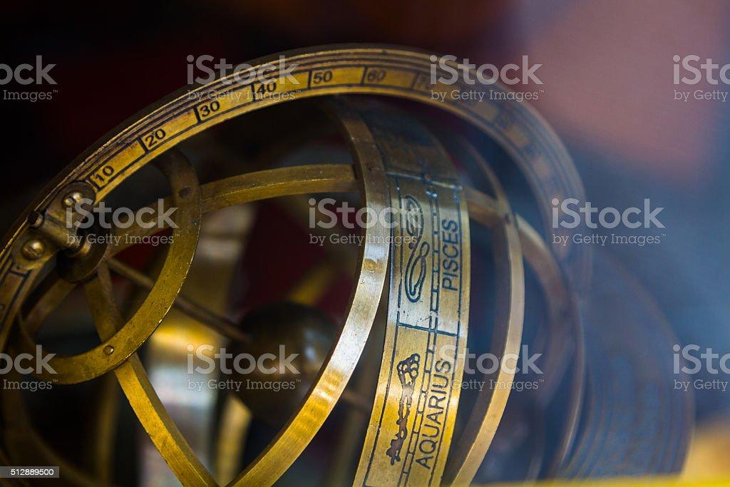 Planetarios antiguo bronce - foto de stock