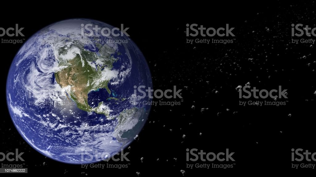 Planets and galaxy, cosmos,  physical cosmology, science fiction wallpaper. royalty-free stock photo