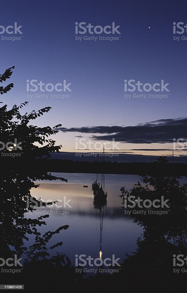 Planets and Sailboats stock photo