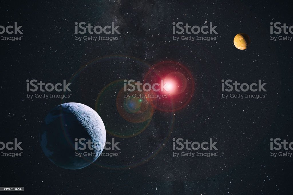 Planets In Space Composite stock photo
