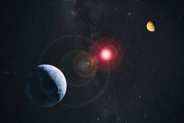planets in space composite - space exploration stock photos and pictures