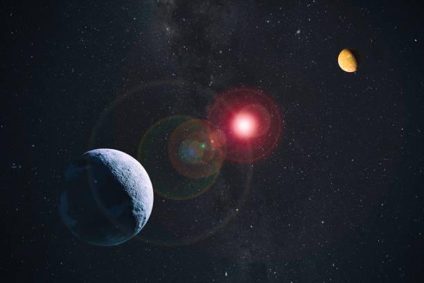 planetas no espaço composto - exploração espacial - fotografias e filmes do acervo