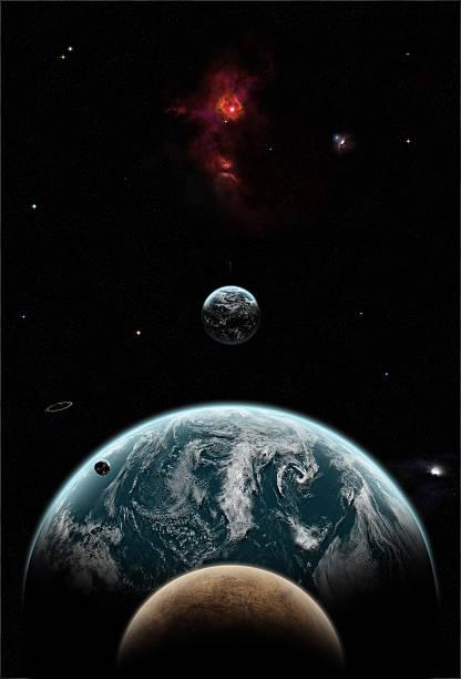 Planeten in Raum  – Foto
