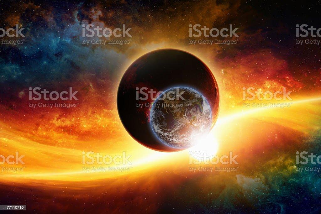 Planetas en el espacio - foto de stock