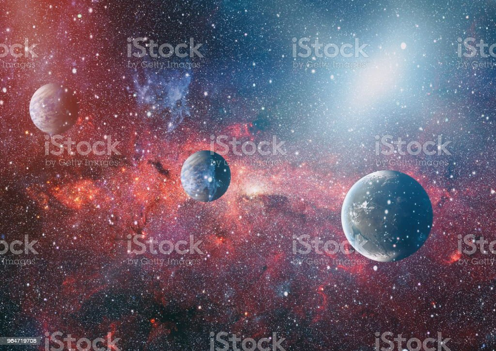planets, stars and galaxies in outer space showing the beauty of space exploration. Elements furnished by NASA royalty-free stock photo