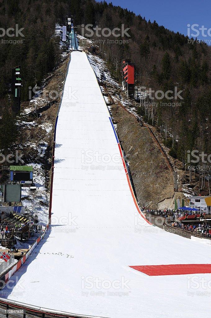 Planica ski jump royalty-free stock photo