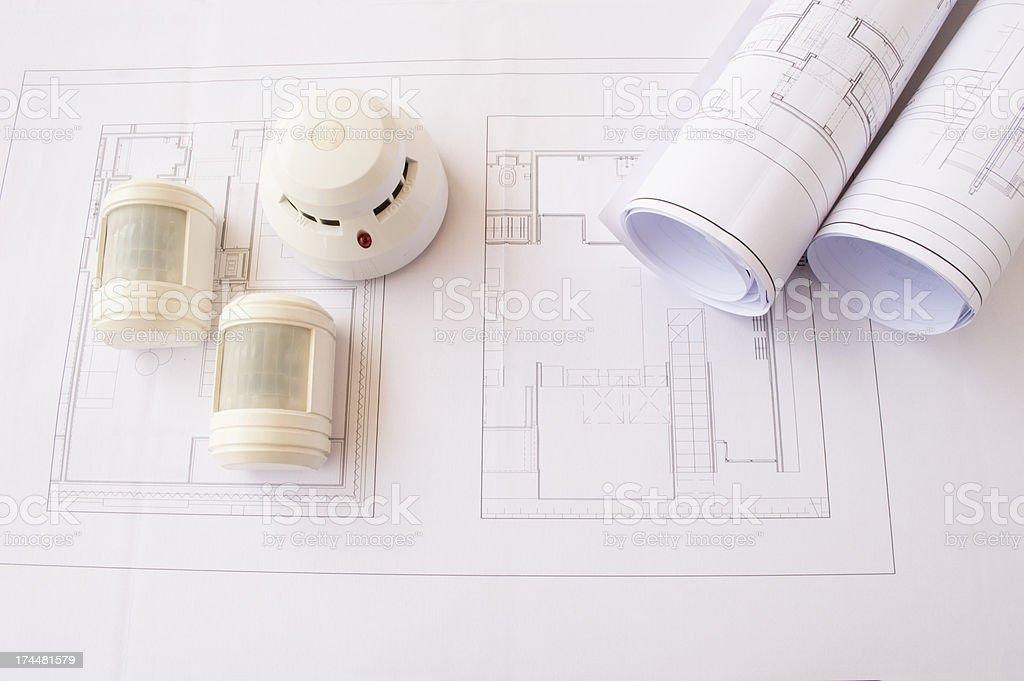 planificación security systems stock photo