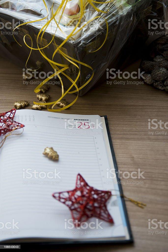 Planing the Christmas Celebration. royalty-free stock photo