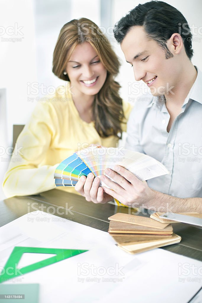 Planing the new home royalty-free stock photo