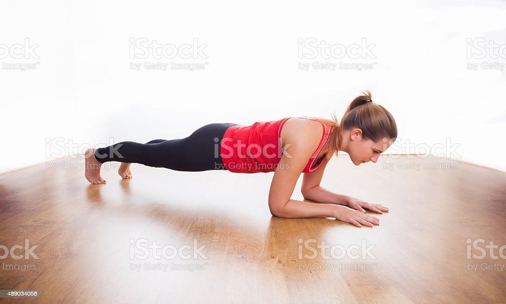 Plank exercise stock photo