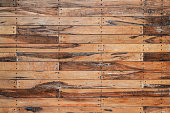 Planks of aged and worn wood