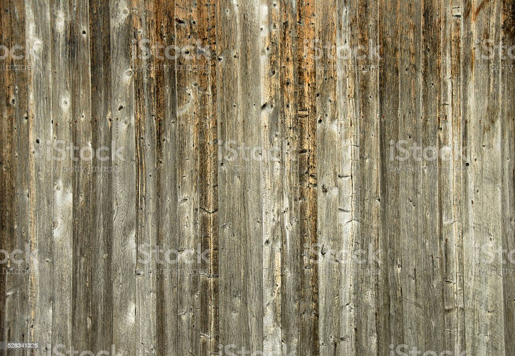 Planks of barn wood stock photo