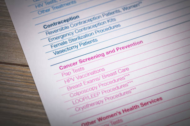 Planned Parenthood Document An editorial stock photo of planned parenthood informational document. planned parenthood federation of america stock pictures, royalty-free photos & images