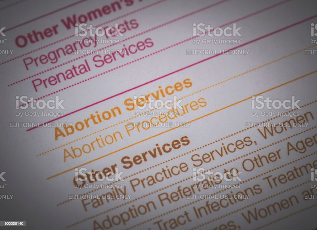 Planned Parenthood Document An editorial stock photo of planned parenthood informational document. Abortion Stock Photo