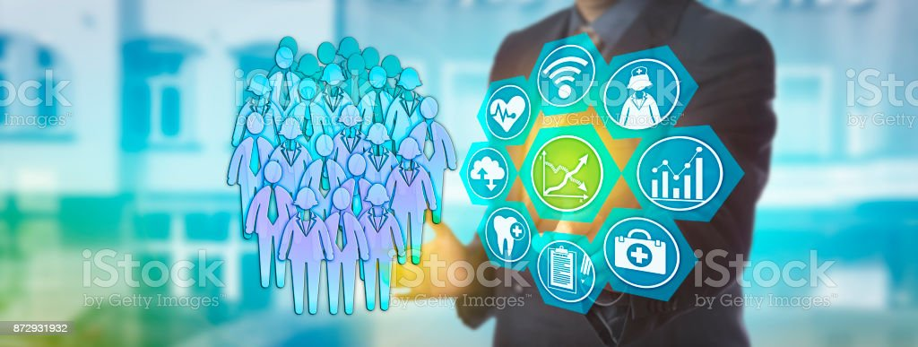 Planner Activating Population Health Management stock photo
