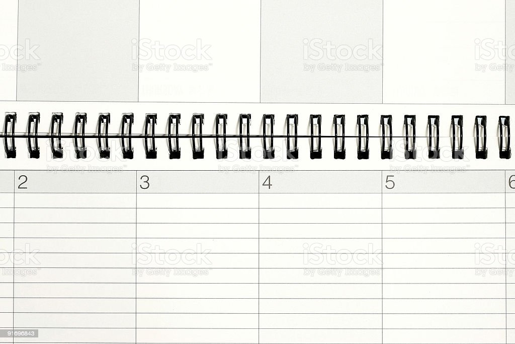Planner and Calendar stock photo